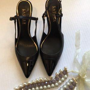 Lauren Ralph Lauren Aaliyah Leather Slingback 👠
